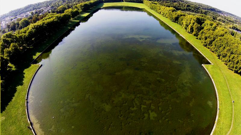 Bassin versaillais vu du ciel avec un drone professionnel