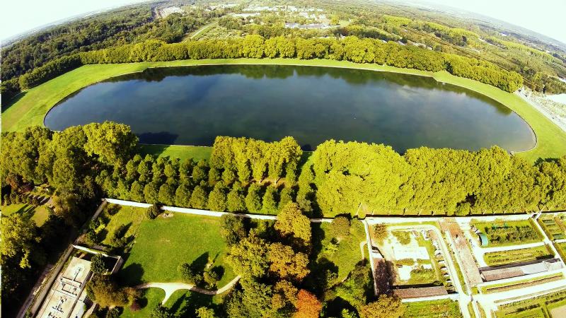 Bassin de Versailles vue aérienne de drone