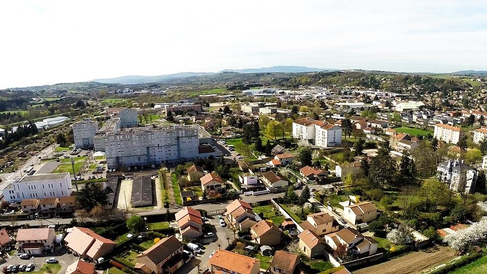 Brignais Photos aériennes pour un futur projet immobilier Rhône 69