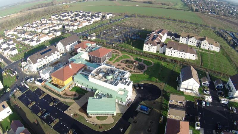 Vues aériennes de l'Essonne pour l'inauguration d'un bâtiment