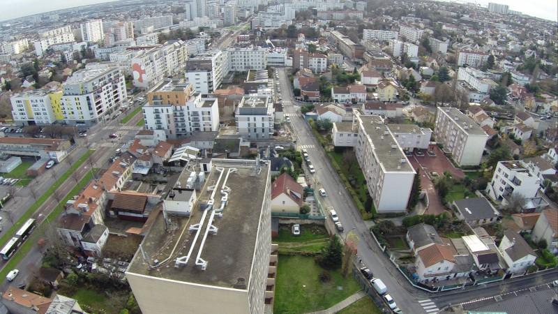 Ile de France Inspection immobilière de la ville de Vitry sur Seine avec un drone professionnel