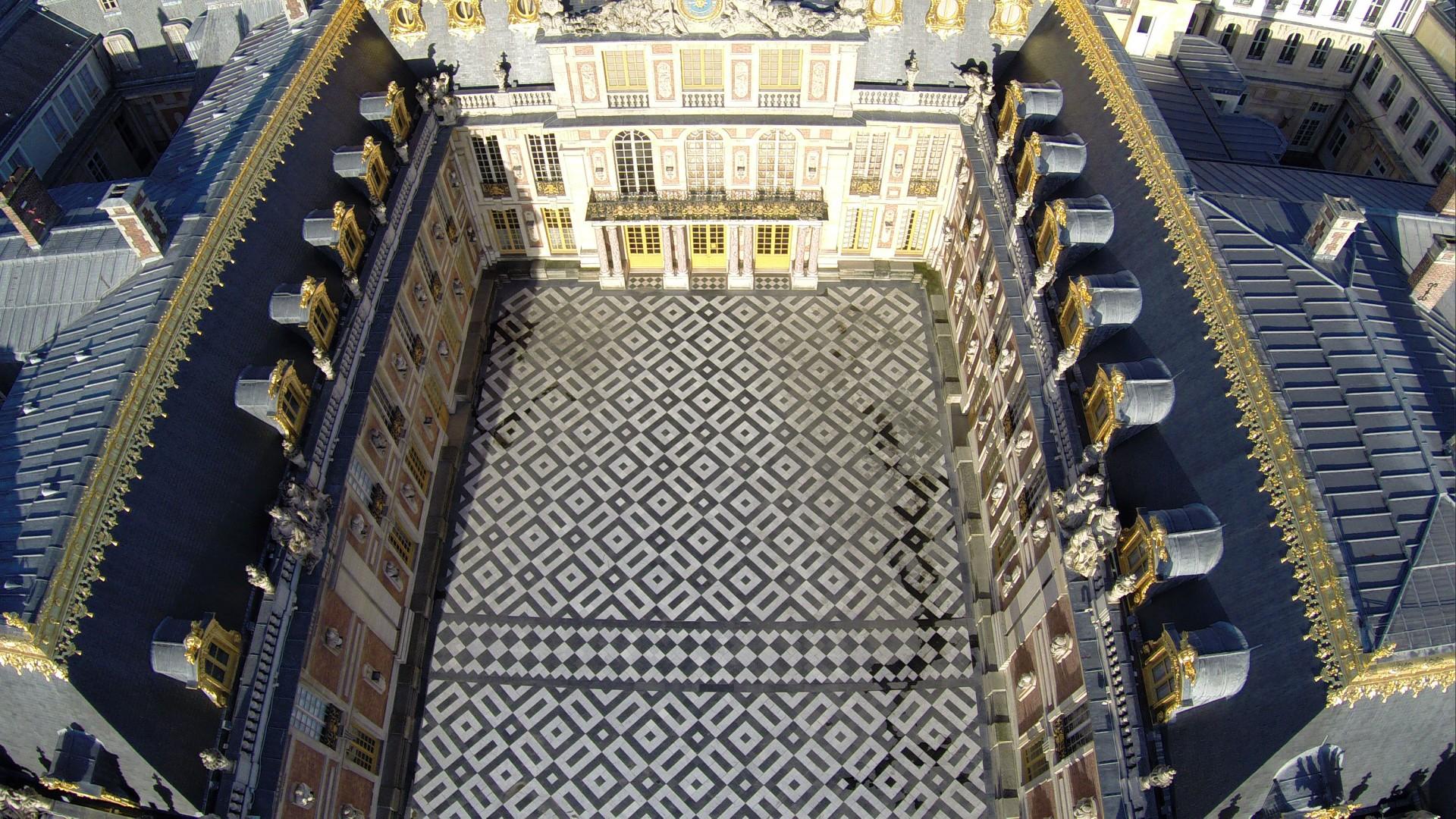 Versailles - Yvelines château en vue plongeante