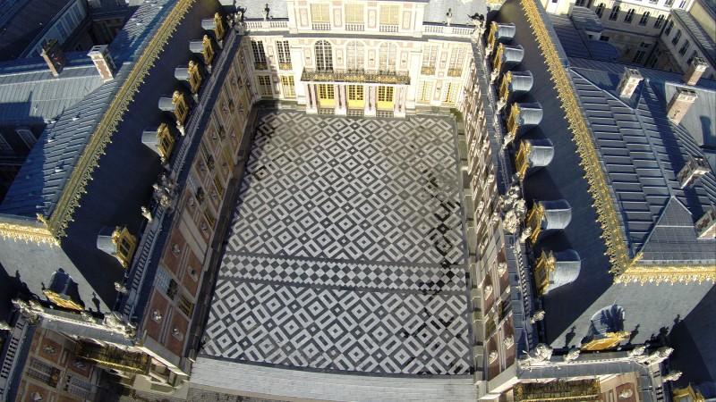 Château de Versailles en drone professionnel