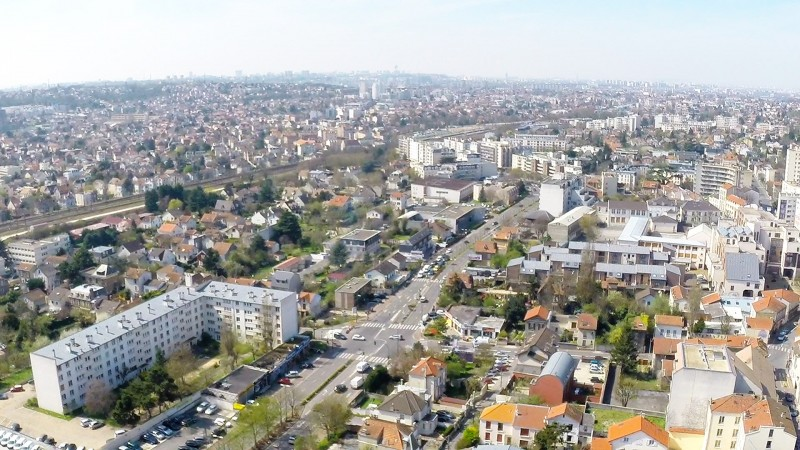 Dijon Photos prises en drone pour la réalisation d'une vidéo 3D