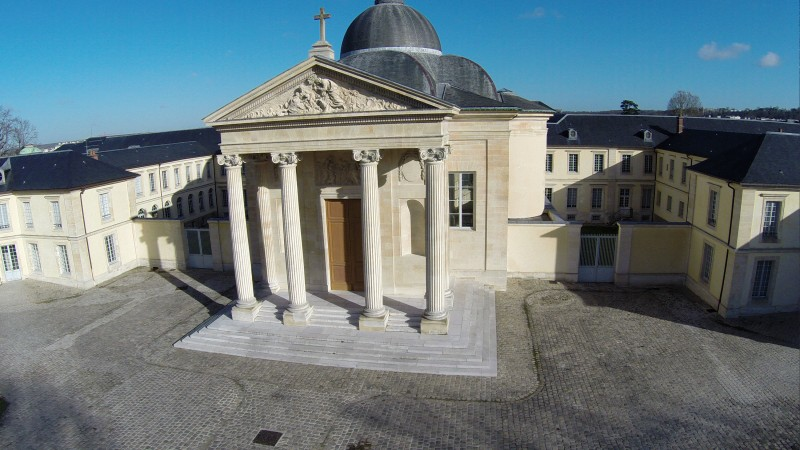 Yvelines Versailles Lycée Hoche vue aérienne professionnelle