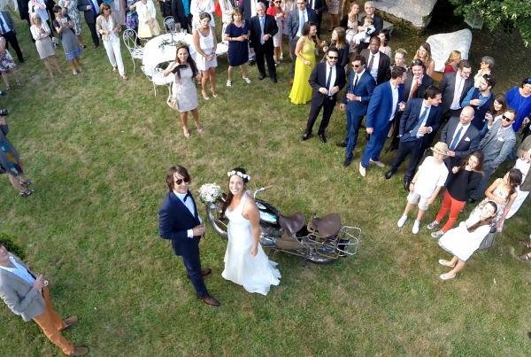 Vidéo de drone : Mariage vu du ciel