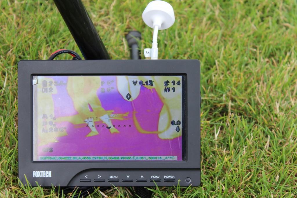 Thermographie - Retransmission en temps réel au sol des images thermiques.