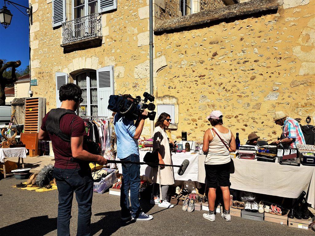 Tournage avec une équipe de France Télévisions pour le journal de 20h de France2
